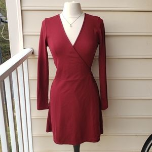 Red wrap dress by American Apparel